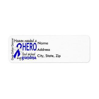 Heaven Needed a Hero Colon Cancer Grandma Label