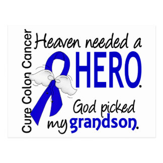 Heaven Needed a Hero Colon Cancer Grandson Postcard