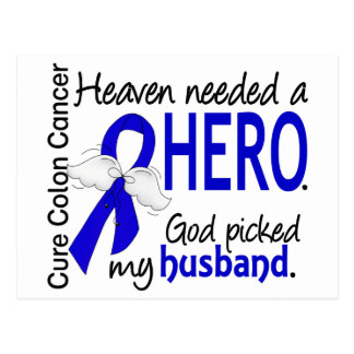 Heaven Needed a Hero Colon Cancer Husband Postcard