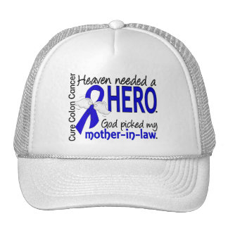 Heaven Needed a Hero Colon Cancer Mother-In-Law Mesh Hat