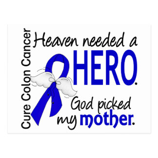 Heaven Needed a Hero Colon Cancer Mother Postcard