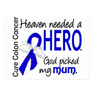 Heaven Needed a Hero Colon Cancer Mum Postcard