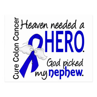 Heaven Needed a Hero Colon Cancer Nephew Postcard