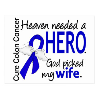 Heaven Needed a Hero Colon Cancer Wife Postcard