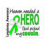 Heaven Needed a Hero Cousin Lymphoma Postcard