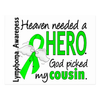 Heaven Needed a Hero Cousin Lymphoma Postcard