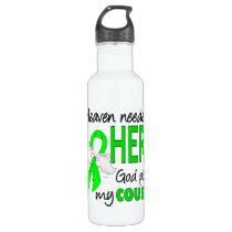 Heaven Needed a Hero Cousin Lymphoma Stainless Steel Water Bottle
