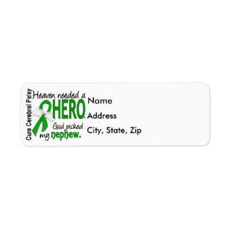 Heaven Needed a Hero CP Nephew Return Address Label
