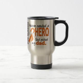 Heaven Needed a Hero Dad Leukemia 15 Oz Stainless Steel Travel Mug