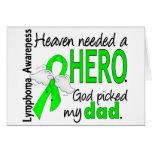 Heaven Needed a Hero Dad Lymphoma Cards