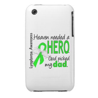 Heaven Needed a Hero Dad Lymphoma Case-Mate iPhone 3 Cases