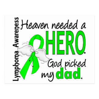 Heaven Needed a Hero Dad Lymphoma Postcard