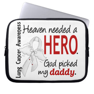Heaven Needed A Hero Daddy Lung Cancer Computer Sleeve
