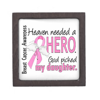 Heaven Needed A Hero Daughter Breast Cancer Gift Box