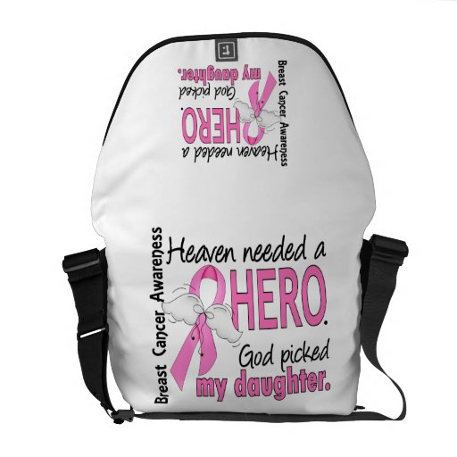 Heaven Needed A Hero Daughter Breast Cancer Commuter Bag