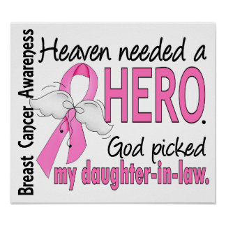 Heaven Needed A Hero Daughter-In-Law Breast Cancer Print