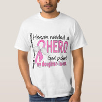 Heaven Needed A Hero Daughter-In-Law Breast Cancer T-Shirt