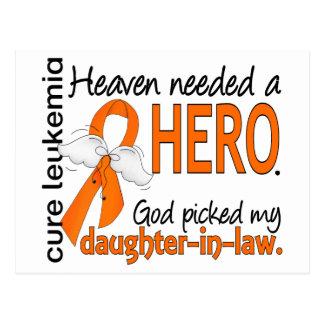 Heaven Needed a Hero Daughter-In-Law Leukemia Postcard