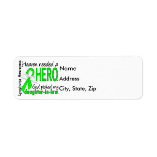Heaven Needed a Hero Daughter-In-Law Lymphoma Label