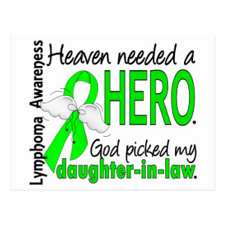 Heaven Needed a Hero Daughter-In-Law Lymphoma Postcard
