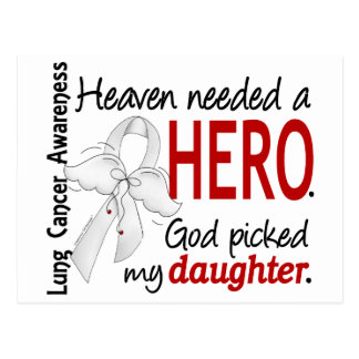 Heaven Needed A Hero Daughter Lung Cancer Postcard