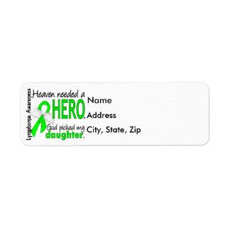 Heaven Needed a Hero Daughter Lymphoma Label