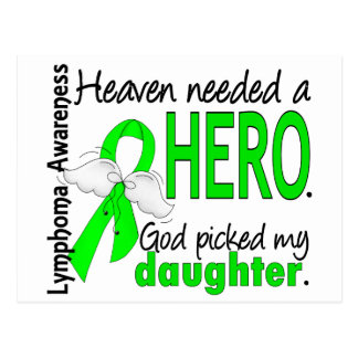 Heaven Needed a Hero Daughter Lymphoma Postcard