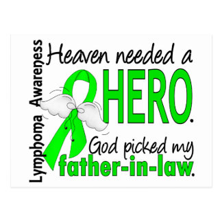 Heaven Needed a Hero Father-In-Law Lymphoma Postcard