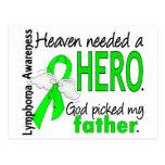 Heaven Needed a Hero Father Lymphoma Postcard