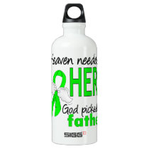 Heaven Needed a Hero Father Lymphoma Water Bottle