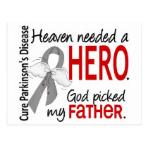 Heaven Needed a Hero Father Parkinson's Postcard