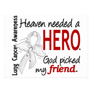 Heaven Needed a Hero Friend Lung Cancer Postcard