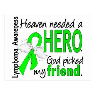 Heaven Needed a Hero Friend Lymphoma Postcard