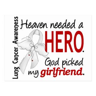 Heaven Needed a Hero Girlfriend Lung Cancer Postcard