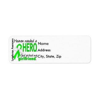 Heaven Needed a Hero Girlfriend Lymphoma Custom Return Address Label