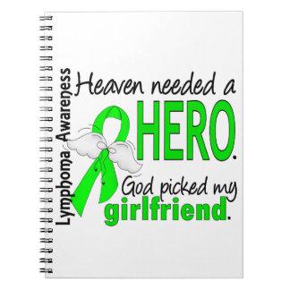 Heaven Needed a Hero Girlfriend Lymphoma Spiral Note Book