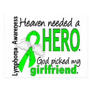 Heaven Needed a Hero Girlfriend Lymphoma Postcard