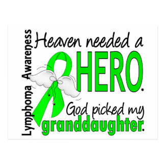 Heaven Needed a Hero Granddaughter Lymphoma Postcard