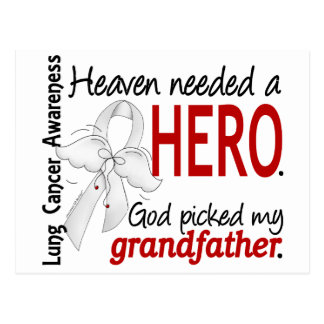 Heaven Needed a Hero Grandfather Lung Cancer Postcard