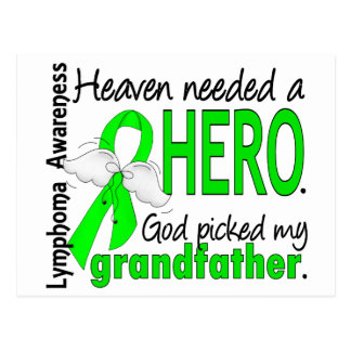 Heaven Needed a Hero Grandfather Lymphoma Postcard