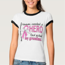 Heaven Needed A Hero Grandma Breast Cancer T-Shirt
