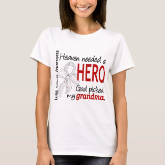 Heaven Needed A Hero Grandma Lung Cancer T-Shirt