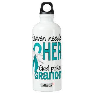 Heaven Needed a Hero Grandma Ovarian Cancer Aluminum Water Bottle