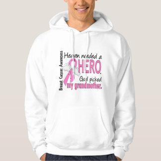 Heaven Needed A Hero Grandmother Breast Cancer Hoodie