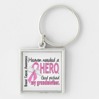 Heaven Needed A Hero Grandmother Breast Cancer Keychain