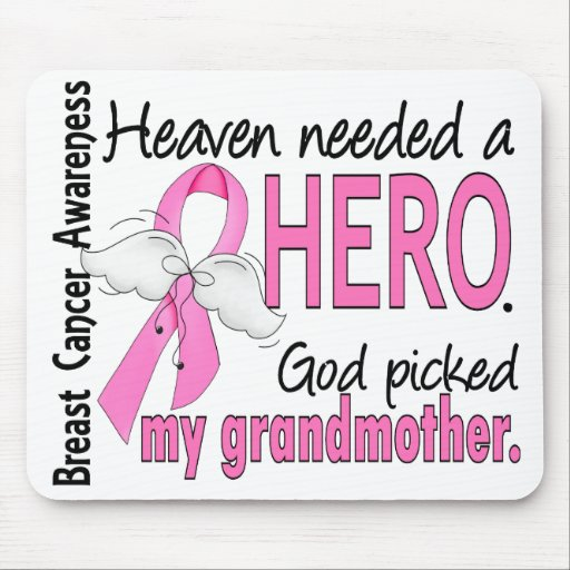 Heaven Needed A Hero Grandmother Breast Cancer Mouse Pad