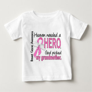 Heaven Needed A Hero Grandmother Breast Cancer Shirt