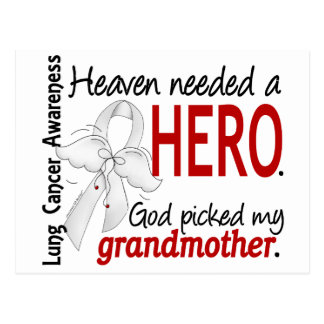 Heaven Needed a Hero Grandmother Lung Cancer Postcard