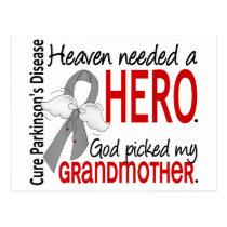 Heaven Needed a Hero Grandmother Parkinson's Postcard