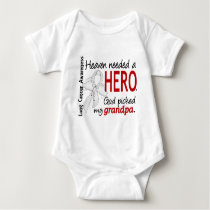 Heaven Needed A Hero Grandpa Lung Cancer Baby Bodysuit